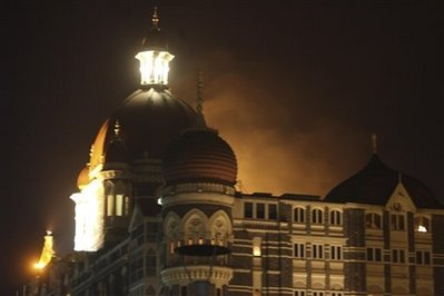 Taj Hotel on fire