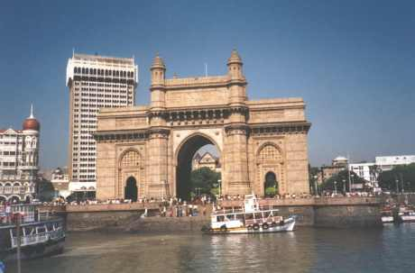 Gateway to India; to the left can be seen the Taj Hotel